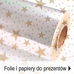 Folie i papiery do pakowania prezentów