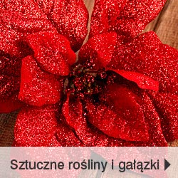 Sztuczne kwiaty i gałązki świąteczne zimowe