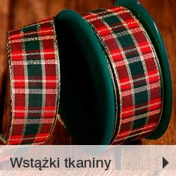 Wstążki i tkaniny bożonarodzeniowe