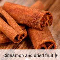 Cinnamon and dried fruits