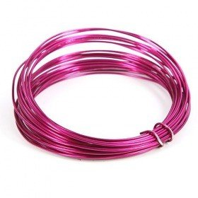 Aluminium wire in coil, 100 g, bright pink