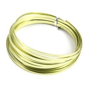 Aluminum Wire flat 100 grams - green apple