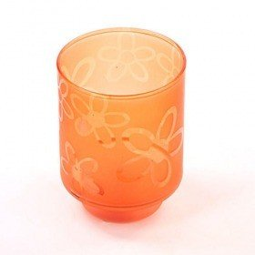 Amber candle holder 8.5/14cm