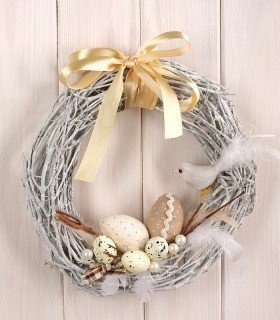 Arrangement 10026 Rustic Wreath ca. 30cm