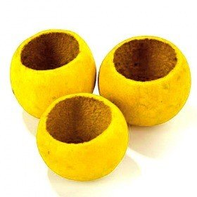 Bell cup, 6 pcs/pkg, yellow