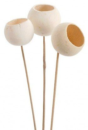 Bell cup on stick, 12 pcs/pkg, bleached