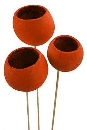 Bell cup on stick, 12 pcs/pkg, orange