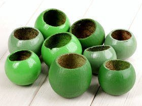 Bell cup, shades of green, 9 pcs