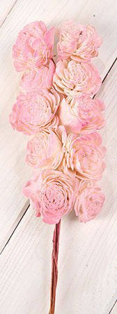 Belly 20-25 mm flowers on wire 15 pcs.pkg light pink