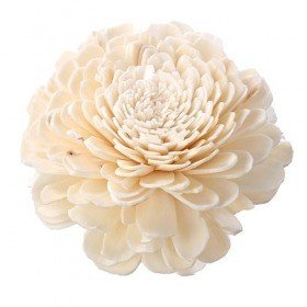 Belly flowers, 2 cm, 24 pcs/pkg - white