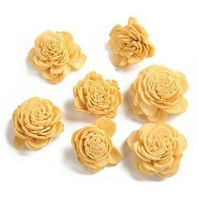 Belly flowers, 3 cm, 24 pcs/pkg - yellow