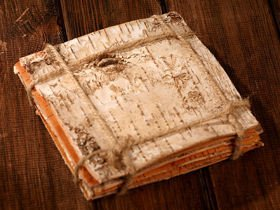 Birch bark - sheets 15 x 15 cm, 8 pcs/pkg