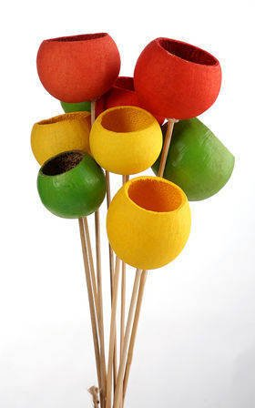 Bouquet of Bell cups Green-Yellow-Orange 9 pcs/pkg