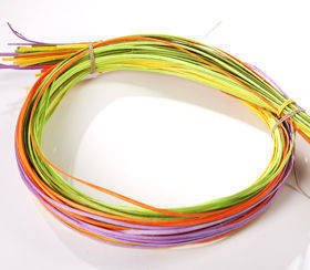 Bunch of Colourful Rattan Strips 100cm, ca.50pcs