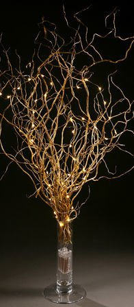 Bunch of Gold Willow wrapped in LED ca. 100cm