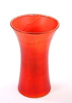 Ceramic flower pot metallic orange 12 / 16.5 cm