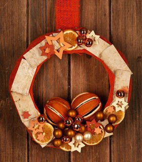 Christmas Wreath Happy Oranges