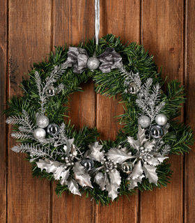 Christmas Wreath Silvered Green ca. 30 cm