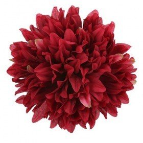 Chrysanthemum head, 16.5 cm - 12 pcs/pkg  - burgundy