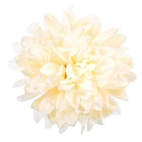Chrysanthemum head, 16.5 cm - 12 pcs/pkg  - cream