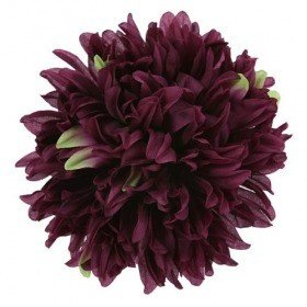 Chrysanthemum head, 16.5 cm - 12 pcs/pkg  - dark burgundy