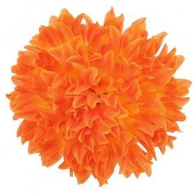 Chrysanthemum head, 16.5 cm - 12 pcs/pkg  - orange