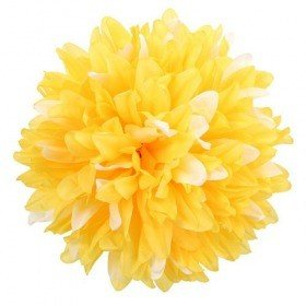 Chrysanthemum head, 16.5 cm - 12 pcs/pkg  - yellow