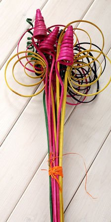 Colourful Rattans, mix, 12 pcs/pkg, ca. 40 cm