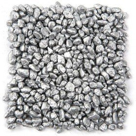 Colourful pebbles 200 g - silver