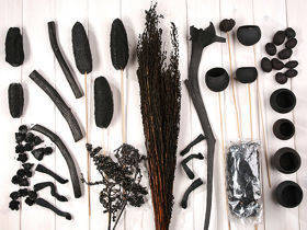 Decorative extra large set, more than 60 ingredients, black