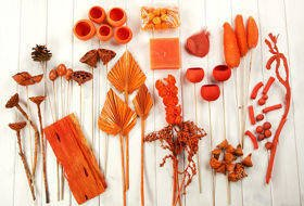 Decorative extra large set, more than 60 ingredients, orange