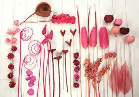 Decorative extra large set, more than 60 ingredients, pink