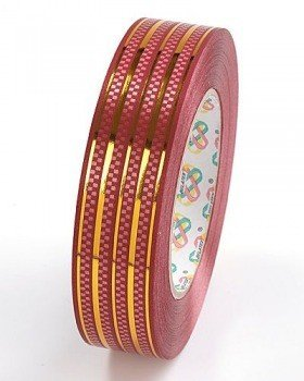 Decorative tape 30 mm, colourful with a stripe, length 45 m – BG17