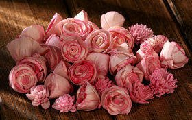 Dried flowers, 2-3 cm, ca. 30 pcs/pkg pink