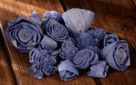 Dried flowers, 2-3 cm, ca. 60 pcs/pkg blue