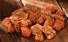 Dried flowers, 2-3 cm, ca. 60 pcs/pkg light brown