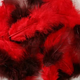Feathers ca. 200 pcs - mix: red/brown