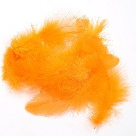 Feathers ca. 200 pcs - orange