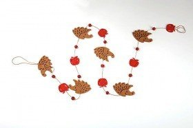 "Felt garland ""hedgehogs""- 1.2 m long"