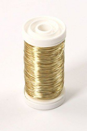 Floral copper wire on spool 75g - gold