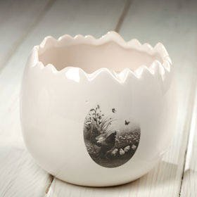 Flower pot cover, ceramic 9/10 cm