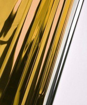Foil film 50 x 70 cm, metallic, gloss, 50 sheets/pkg - gold