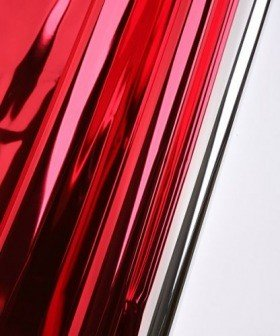Foil film 50 x 70 cm, metallic, gloss, 50 sheets/pkg - red