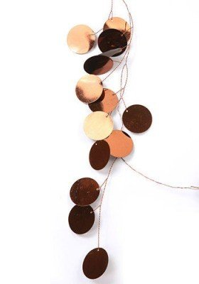Garland copper circles 120 cm