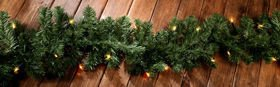 Garland of conifer needles 250cm