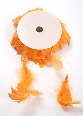 Garland of feathers - orange 10 m