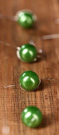 Garland of pearls, 200m, green