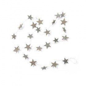 Garland on wire stars anthracite 150 cm