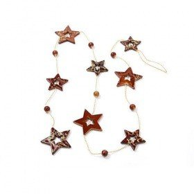 Garland stars on chain 100 cm