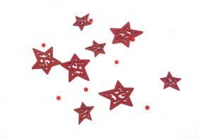 Garland stars on wire 120 cm claret